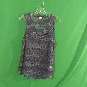 Converse sheer sleeveless blouse size L